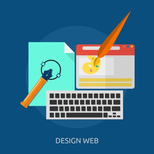 Conception Web Illustration conceptuelle Conception vecteur