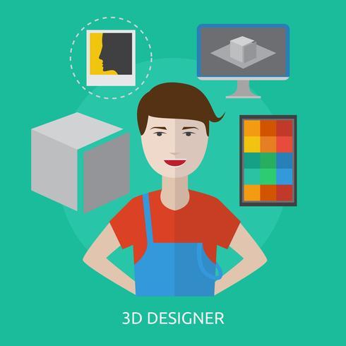 3D Designer Conceptuel illustration Design vecteur