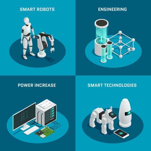 Intelligence artificielle Icon Set vecteur