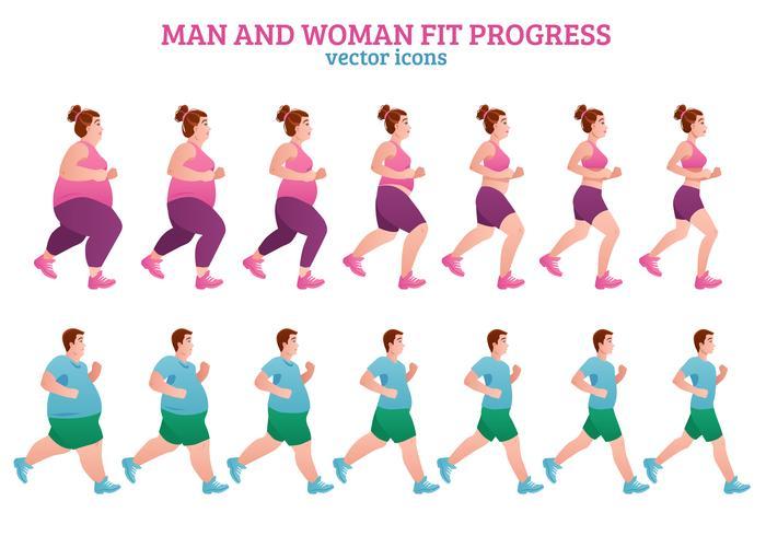 Stages de fitness vecteur