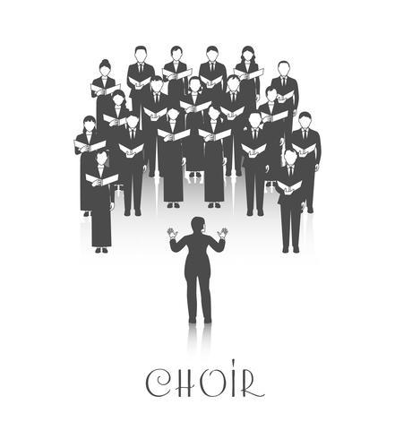 Chorale Peroforrmance Black Image vecteur