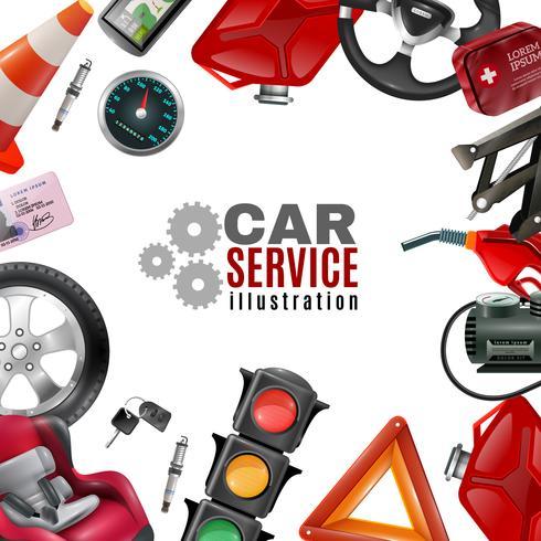 Modèle de service de voiture vecteur