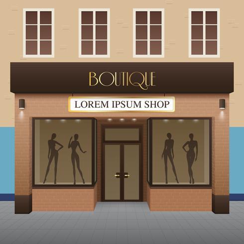 Illustration du bâtiment de la boutique vecteur