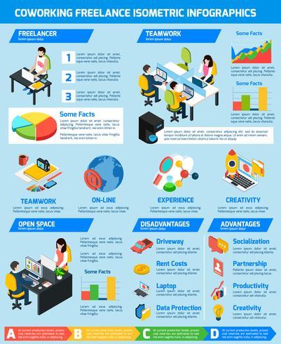 Set d'infographie freelance vecteur