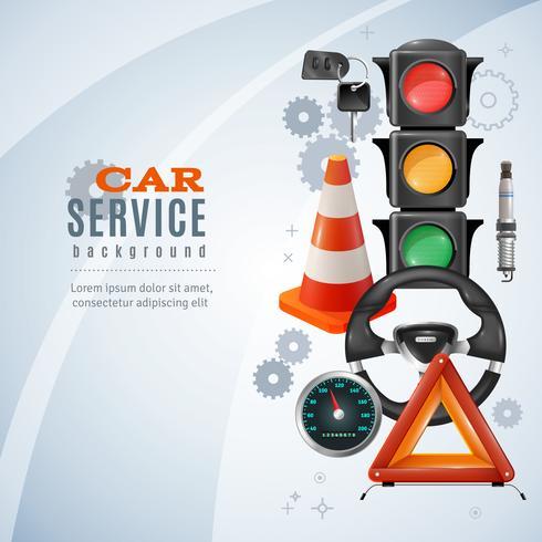 Contexte de service de voiture vecteur