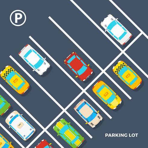Affiche de parking vecteur