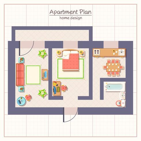 Illustration du plan architectural vecteur