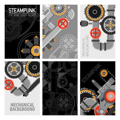 Conception de brochures de pièces de machines vecteur