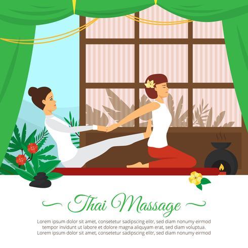 Illustration de massage et de soins de santé vecteur