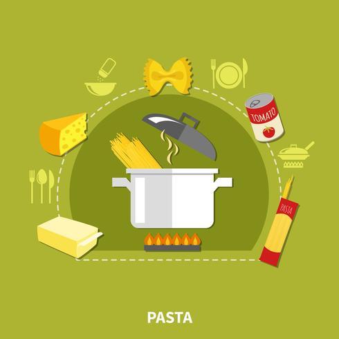 Concept de cuisine maison vecteur