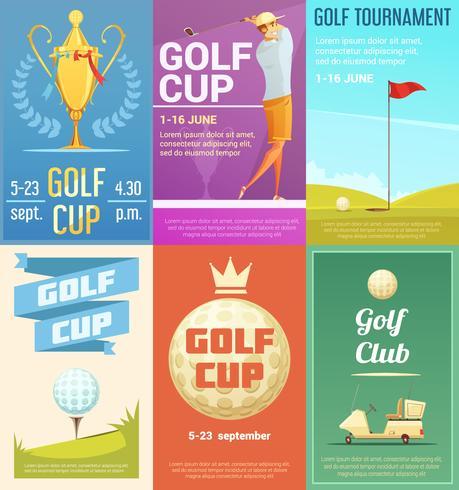 Ensemble d'affiches rétro Golf Club 6 vecteur