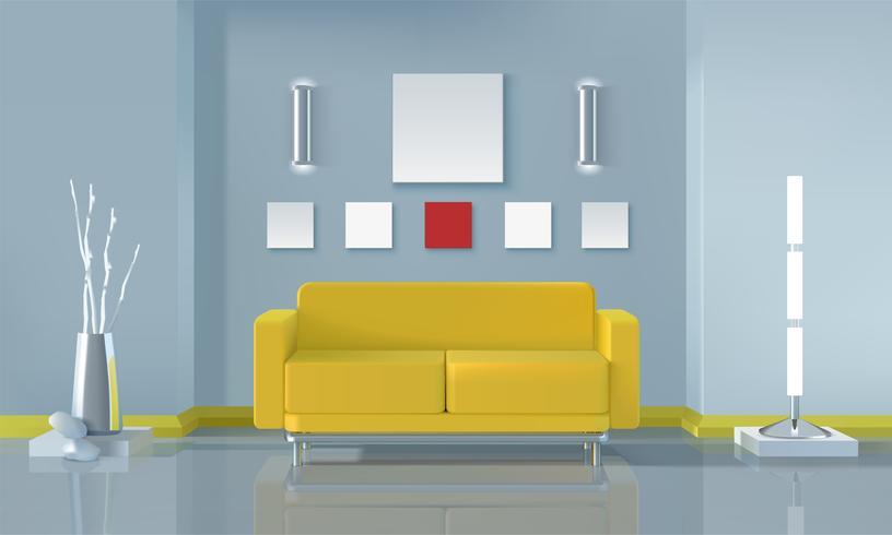 Design d'intérieur de salon moderne vecteur