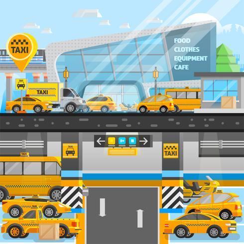Composition de voitures de taxi vecteur