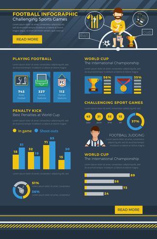 Infographie de football vecteur