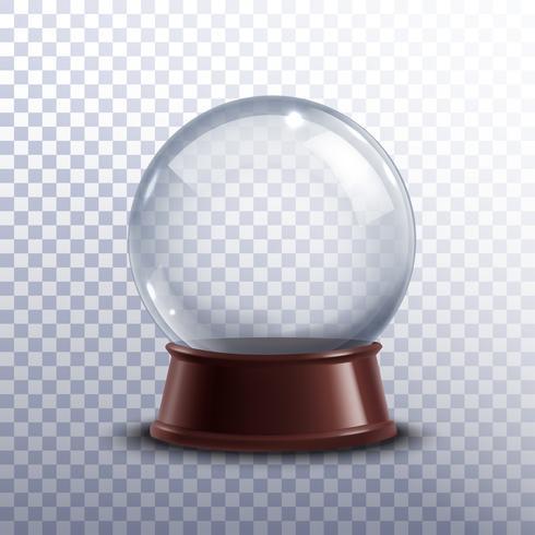Boule à neige transparente vecteur