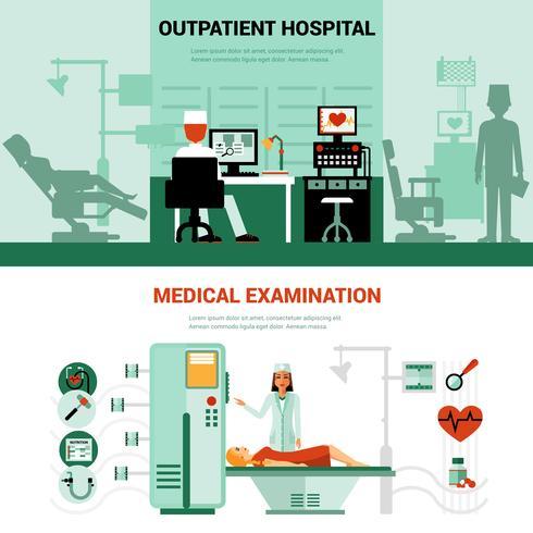 Bannières des spécialistes médicaux vecteur