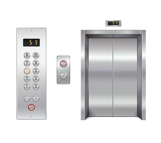 Ensemble de conception d'ascenseur vecteur
