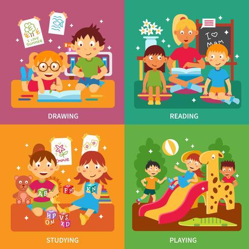 Concept de jardin d'enfants vecteur