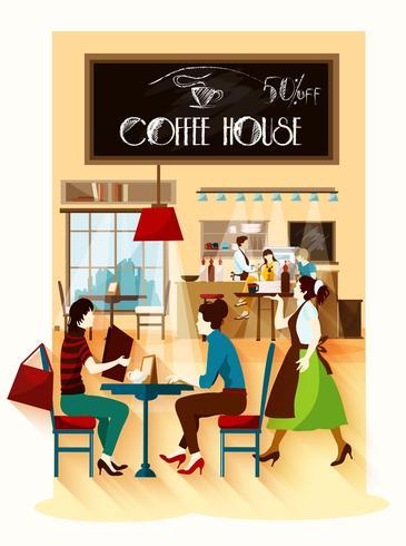 Concept de design de maison de café vecteur