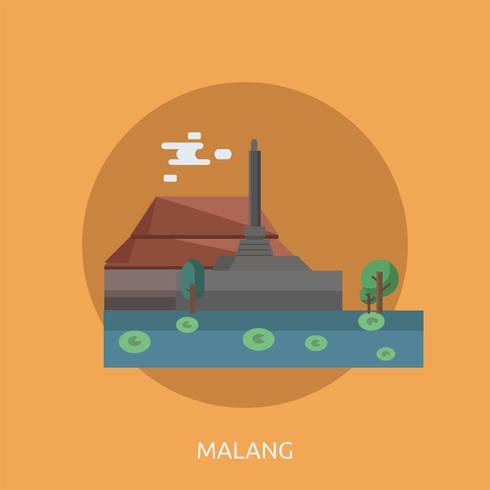 Malang Conceptuel illustration Design vecteur
