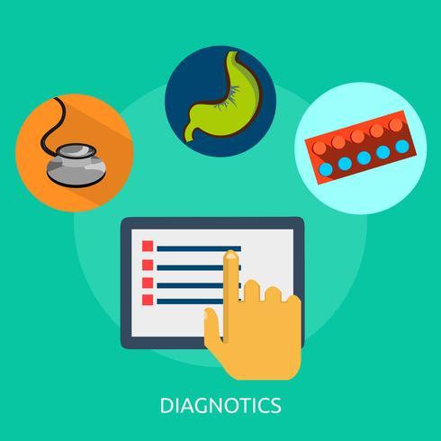 Diagnotics Illustration conceptuelle Design vecteur