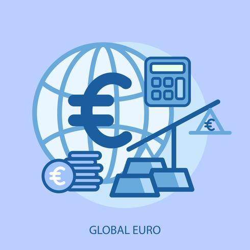 Global Euro Conceptuel illustration Design vecteur