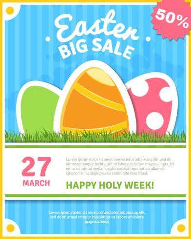 Affiche de vente de Pâques vecteur