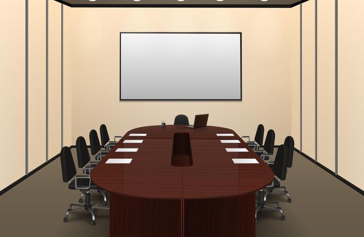 Illustration de la salle de conférence vecteur