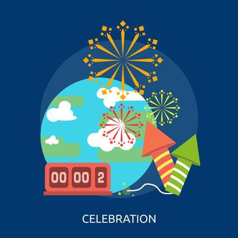 Célébration du Nouvel An illustration conceptuelle Design vecteur