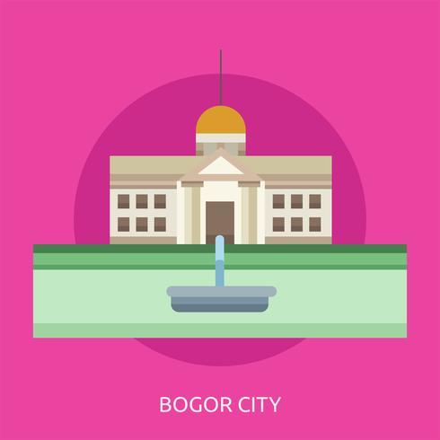 Ville de Bogor Illustration conceptuelle Design vecteur