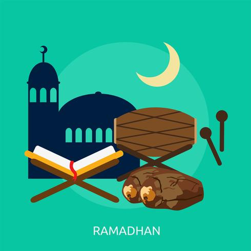 Ramadhan Illustration conceptuelle Design vecteur