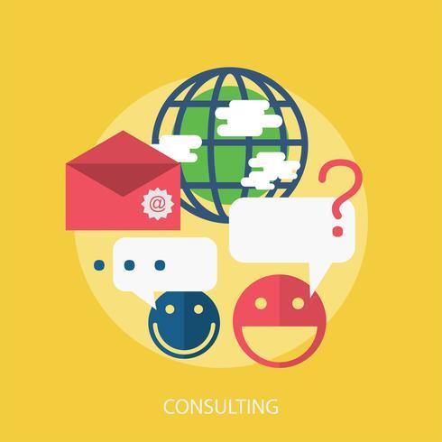 Consultation d'illustration conceptuelle vecteur