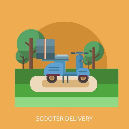 Livraison de scooter Conceptuel illustration Design vecteur