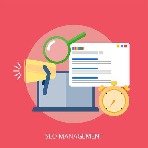 Seo Management Illustration conceptuelle Design vecteur