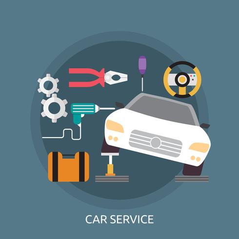 Service de voiture Illustration conceptuelle Conception vecteur