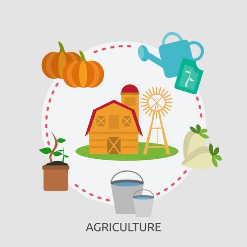 Agriculture Illustration conceptuelle Conception vecteur