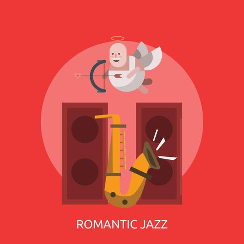 Jazz romantique Illustration conceptuelle Design vecteur