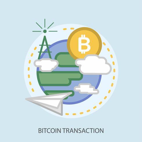 bitcoin transaction conceptuel illustration design vecteur