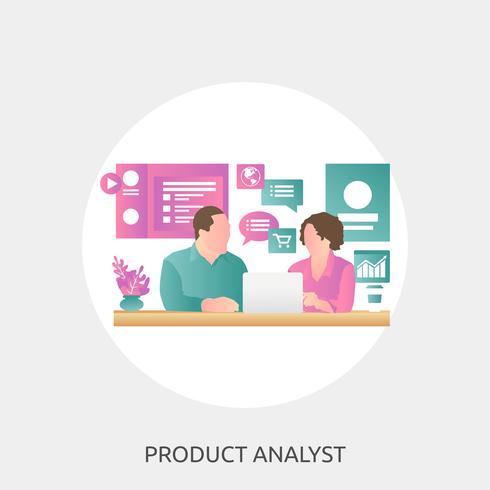 Analyste produit Illustration conceptuelle Design vecteur
