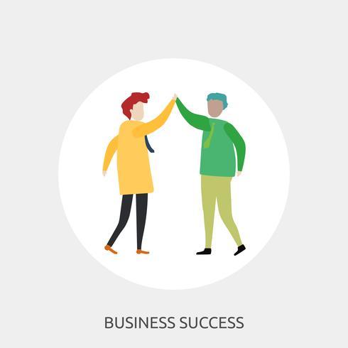 conception illustration conceptuelle de succès commerciaux vecteur