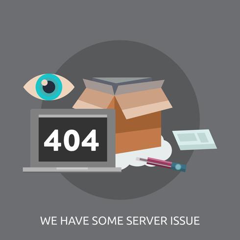 Nous avons des problèmes de serveur Illustration conceptuelle Conception vecteur