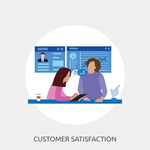Satisfaction de la clientèle Illustration conceptuelle Conception vecteur
