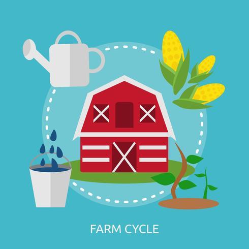 Cycle de ferme conceptuel illustration Design vecteur
