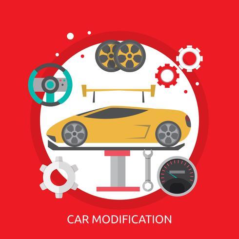 Modification de la voiture Illustration conceptuelle Conception vecteur