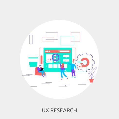 UX Research Illustration conceptuelle Design vecteur
