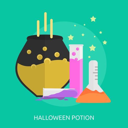 Potion d'Halloween Illustration conceptuelle Design vecteur