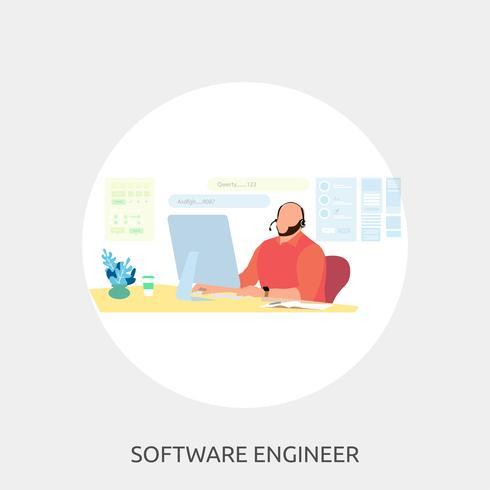 Ingénieur logiciel Illustration conceptuelle Conception vecteur