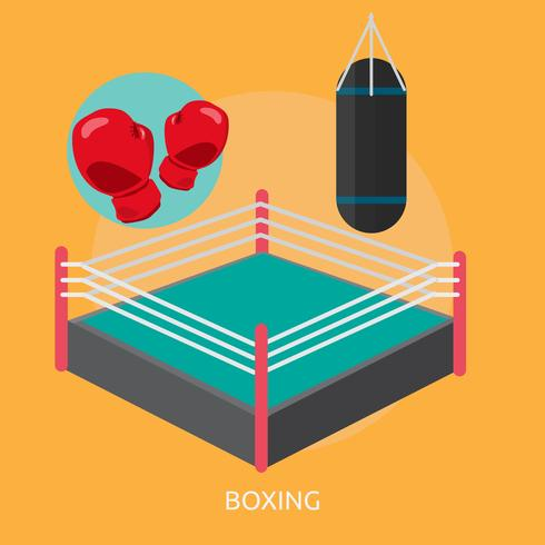 Boxe Conceptuel illustration Design vecteur