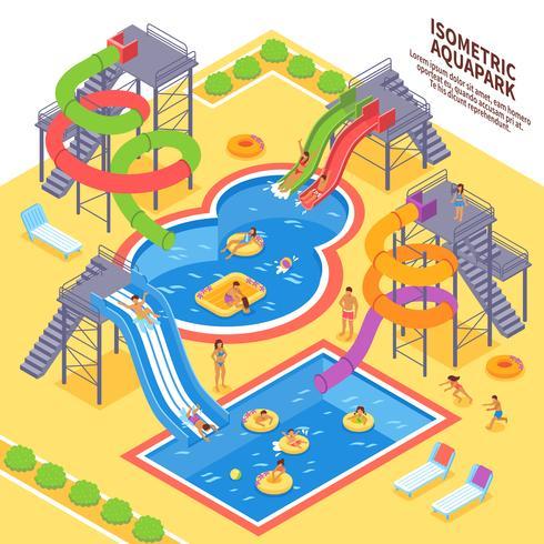 Illustration du parc aquatique vecteur
