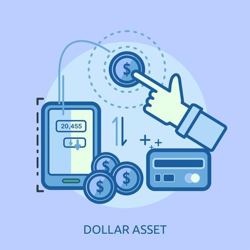Yen Asset Conceptuel illustration Design vecteur